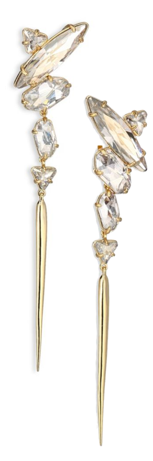 Alexis Bittar Miss Havisham Celestial Collection Stone Cluster Spike Clip-Ons