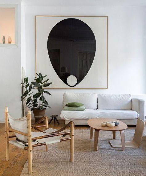 modern living room, safari chair