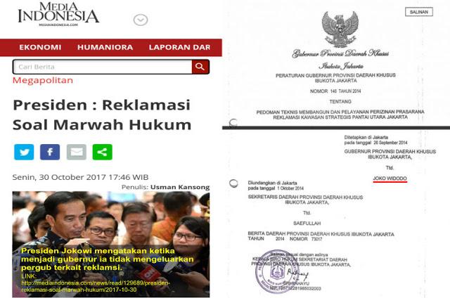 Jokowi Klaim Saat Jadi Gubernur DKI Tidak Keluarkan Pergub Reklamasi, Elisa Sodorkan Bukti Ini