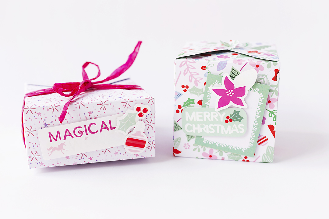 Christmas Gift Boxes with Magical Holidays @SandraDietrich for @DCWV