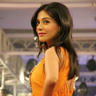 Amrita Rao in Orange Gown at Fashion Show