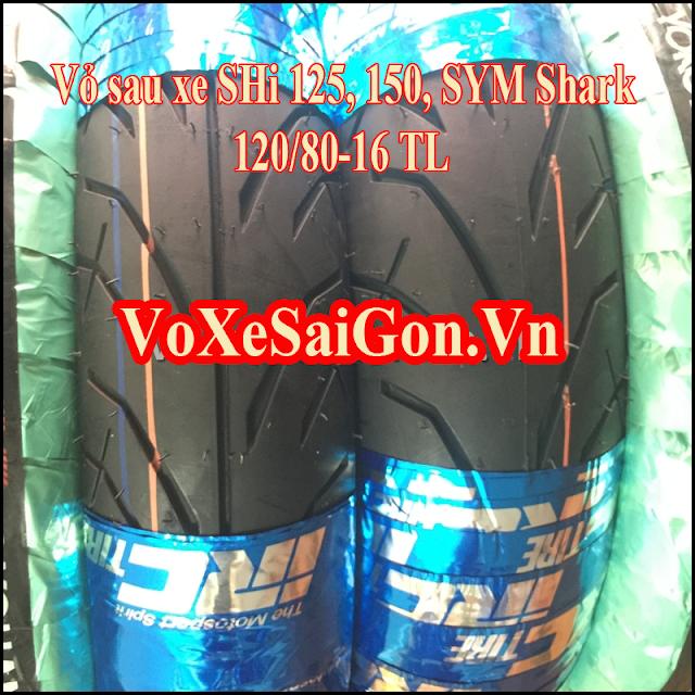 Vỏ sau xe Shark IRC Thái 120/80-16 TL