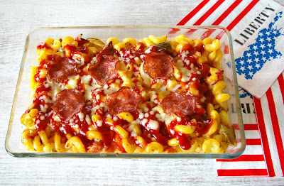 pizza-style mac & cheese