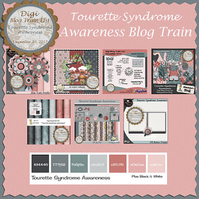 Digi Blog Train List Tourette Syndrome Awareness Freebie