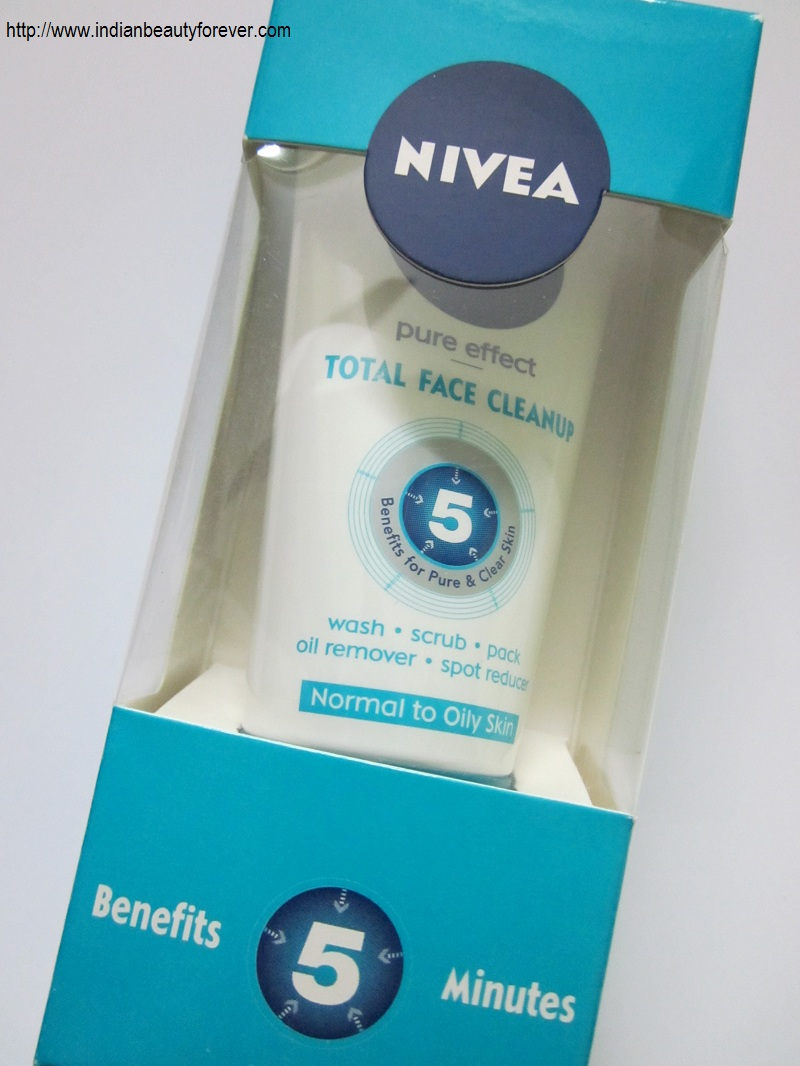 nivea pure effect total clean up review indian beauty forever. Black Bedroom Furniture Sets. Home Design Ideas