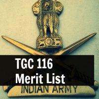 TGC 116 Merit List