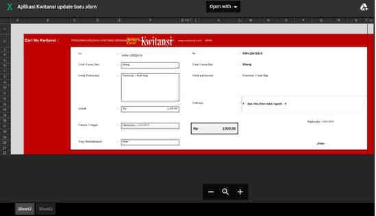 Madrasah atau yang bekerja di perkantoran supaya mudah dalam mengelola dan mencetak Kuita Aplikasi Kwitansi Format Excel Otomatis