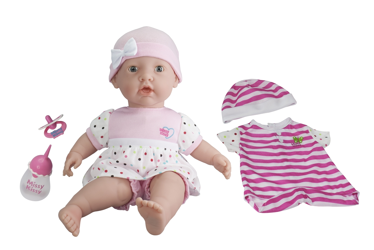 8ec20a105ecc With this doll you get a 15 inch baby doll that loves to play. You have 12  phrases she says along with 2 songs. She likes to be tickled, ...