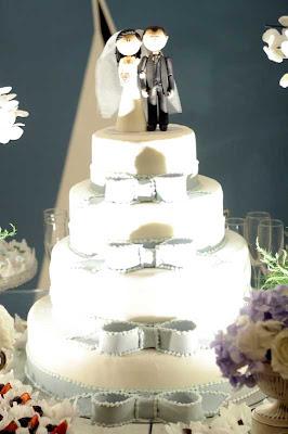 6 Detalhes de um casamento em azul e branco...