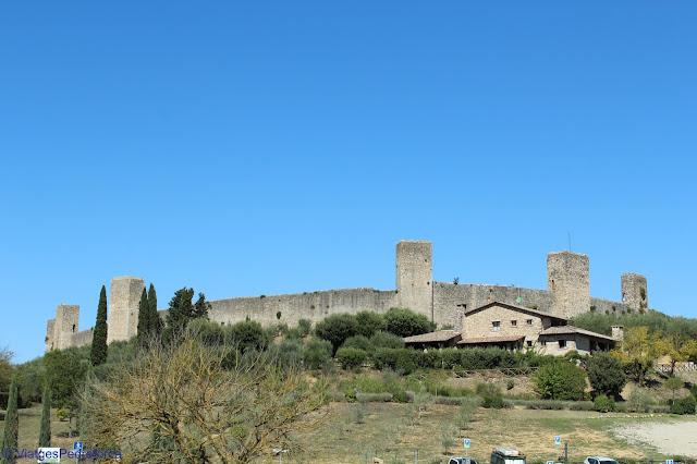 Monteriggioni, Toscana, Itàlia, ciutats medievals emmurallades