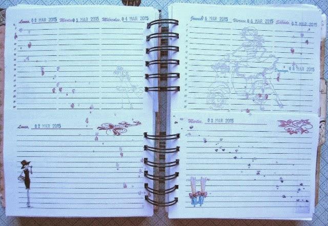 scrap-agenda A Ladies Diary - Graphic45 pagina semana-dia vista
