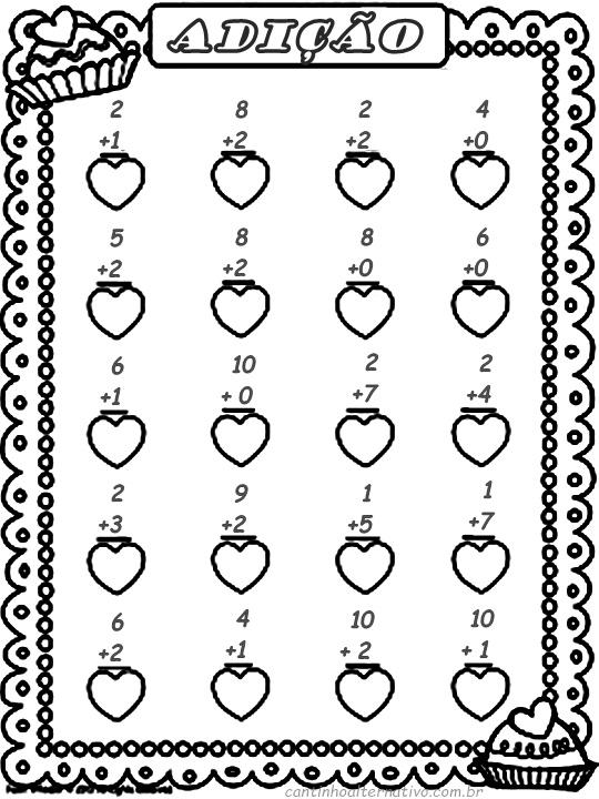 Resultado de imagem para atividades para alfabetizar matematica