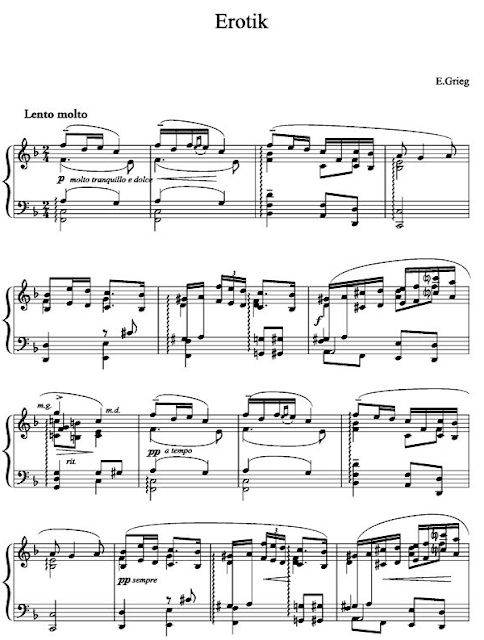 Partitur )Notation Music) Erotik By Edvard Grieg Solo Piano