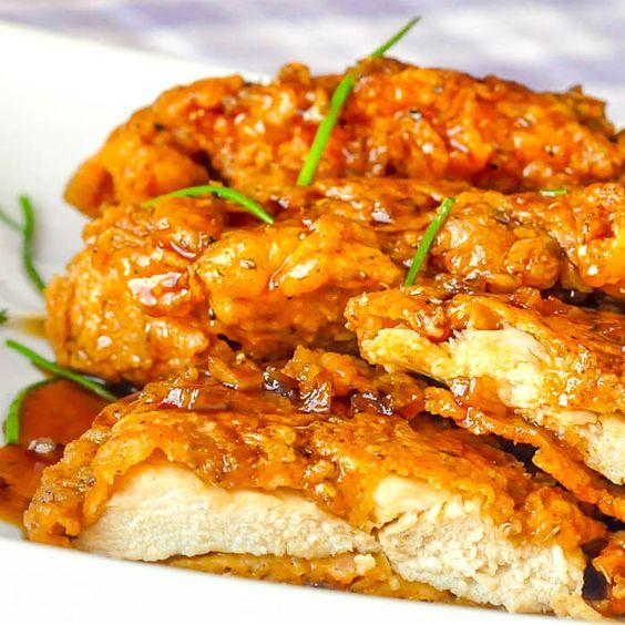 Crunchy Honey Garlic Chicken