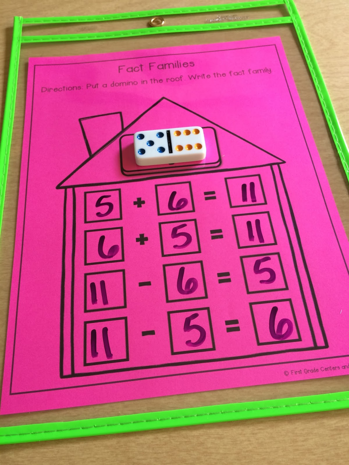 worksheet Fact Family Flash Cards math mats for first grade centers and more then students write all four facts in the family when they complete one fact can grab another flash card do another