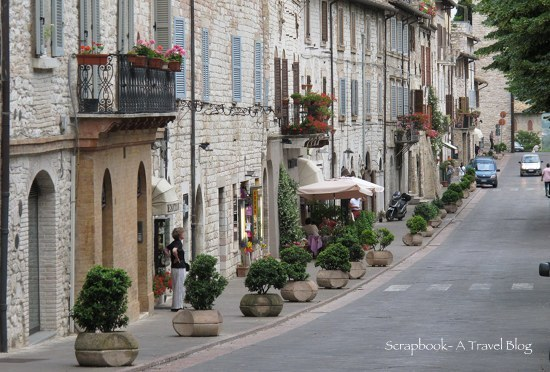 Peaceful street Assisi Italy