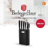 Berlinger Haus 7 Pcs Knife With Stand Rose Gold