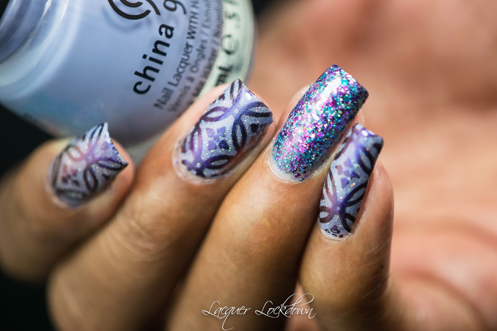 Lacquer Lockdown: Multi-Chrome Mirror Nails Pigment Abstract Stamped ...