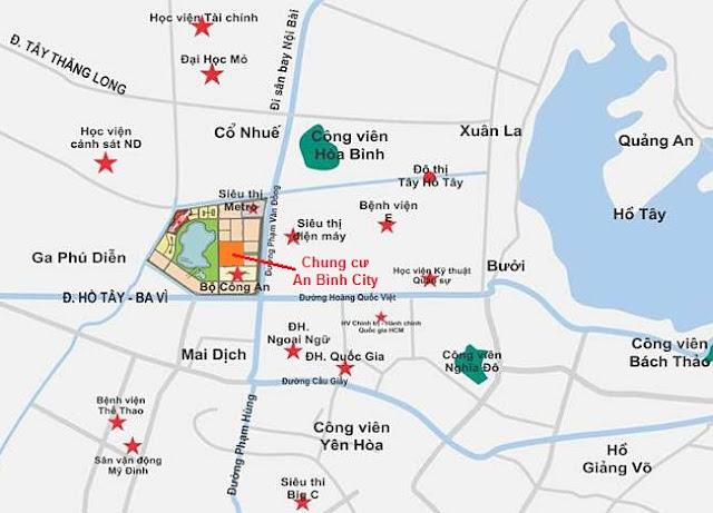 Vị trí chung cư An Bình City Cổ Nhuế