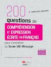 تحميل كتاب 200 سؤال تعليمي في اللغة الفرنسية + الأجوبة 200 questions de compréhension et expression écrite en français