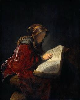 Nomes bíblicos de menina: letra O (Imagem: Profeta Ana - Rembrandt)