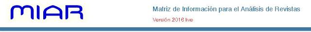 MIAR (Matriz de Información para el Análisis de Revistas)