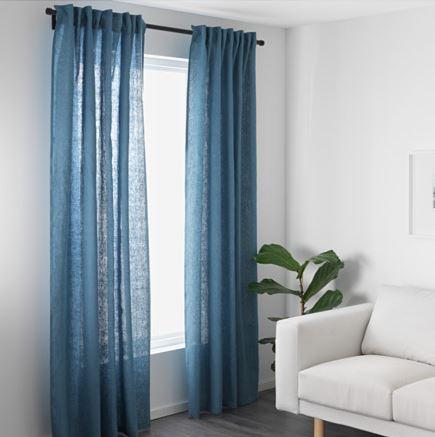 Ikea salas com cortinas modernas decora o e ideias - Cortinas exterior ikea ...