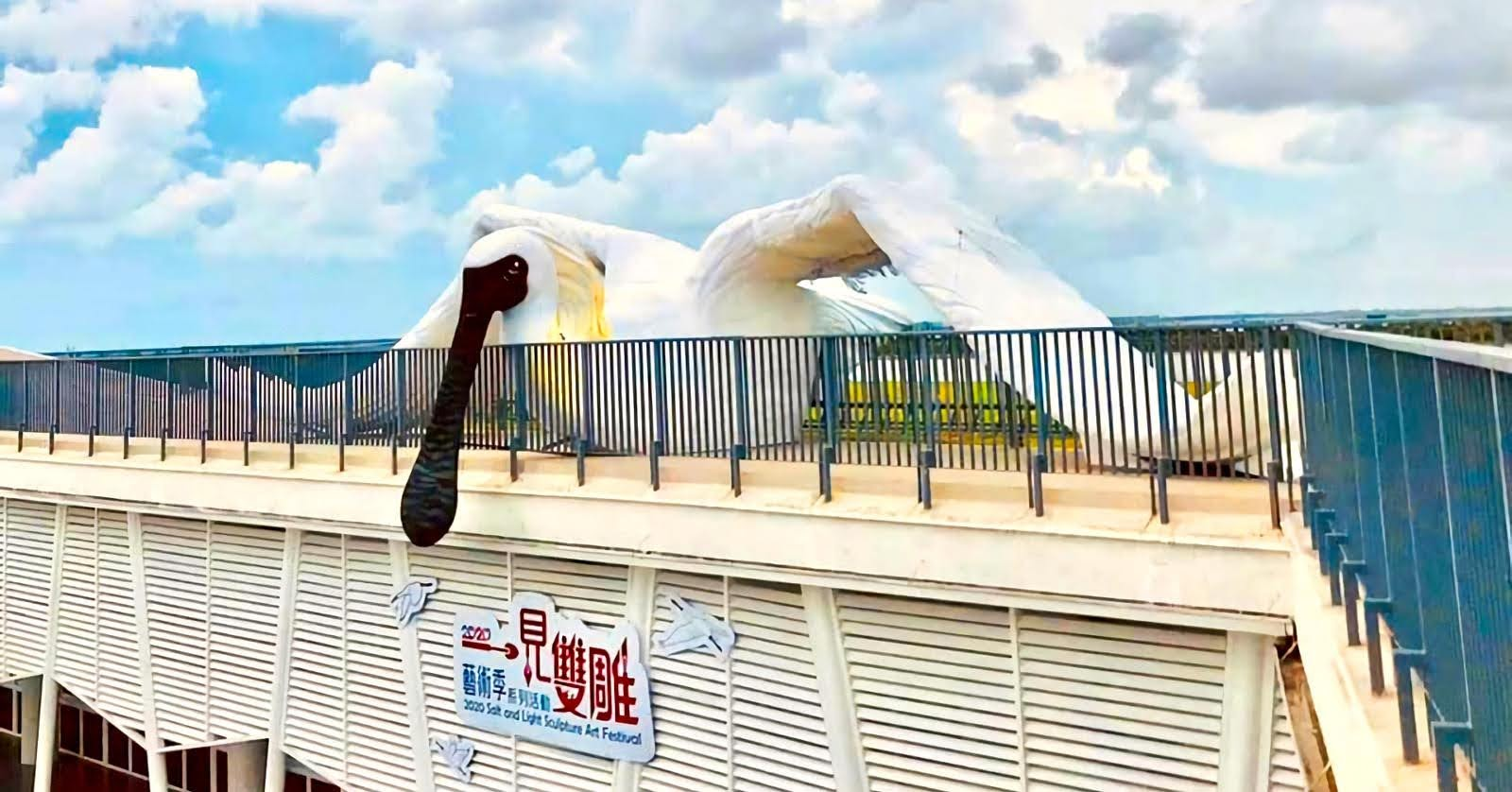 2020一箭雙鵰藝術季7/11登場|鹽雕×光雕×地表最大黑面琵鷺|活動
