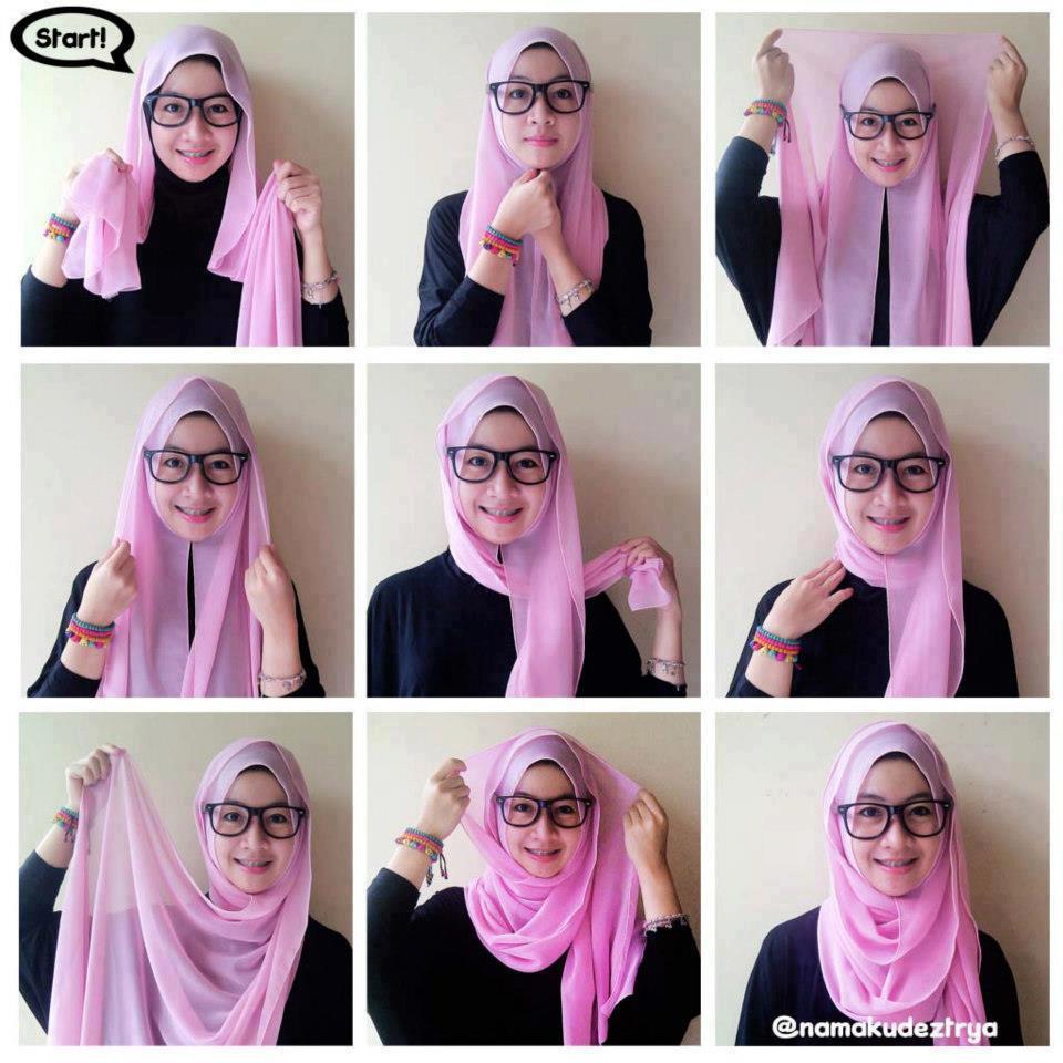 Tutorial Hijab Terbaru Tutorial Hijab Pashmina Dian Pelangi