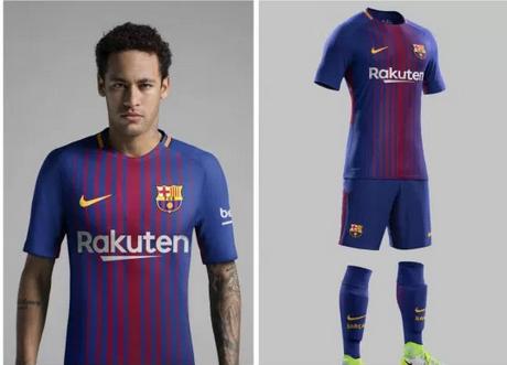 completo calcio FC Barcelona personalizzata