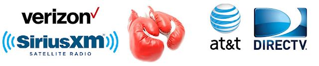 Verizon buying SiriusXM boxing gloves and AT&T & DirecTV