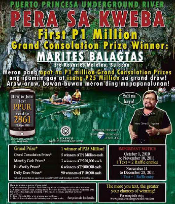 PPUR text raffle poster