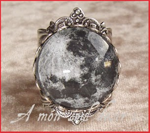 Bague Lune Argent Moon Ring Silver MoonSpell