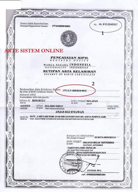 Input Nomor Registrasi Akta Kelahiran Versi Terbaru