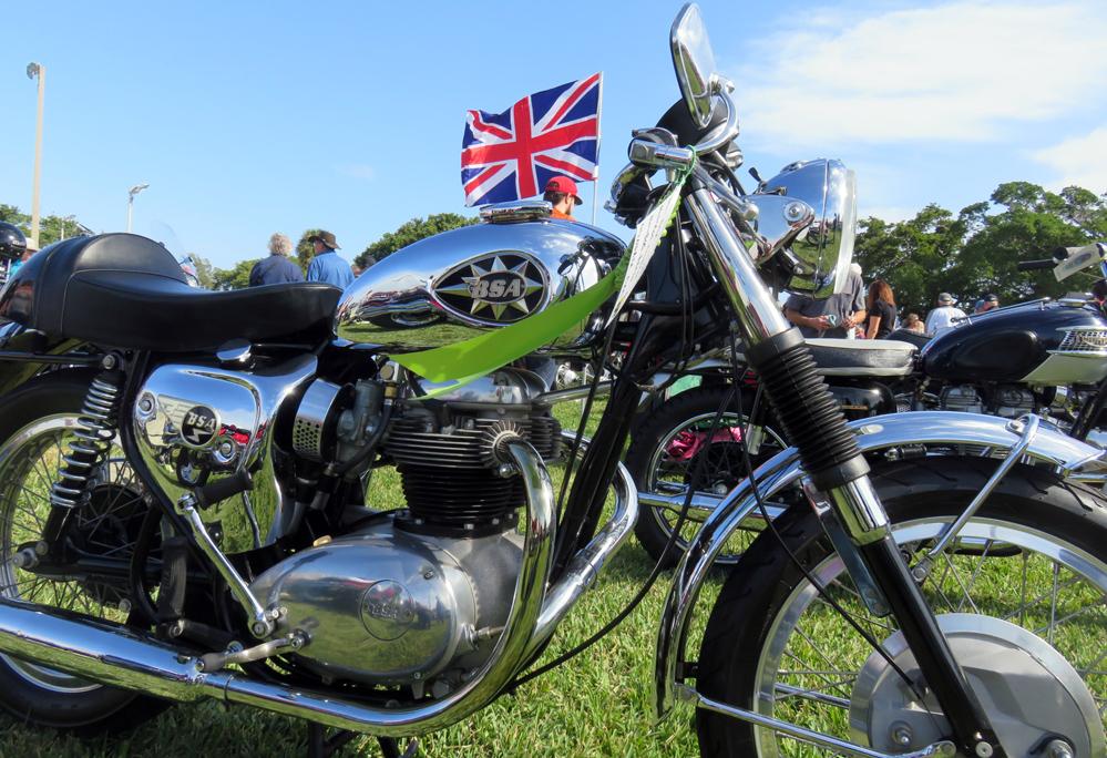 Shiny motorcycle.