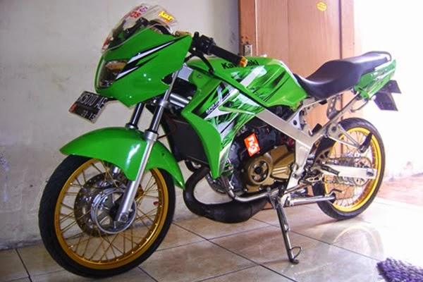 ide modifikasi motor ninja r warna hijau