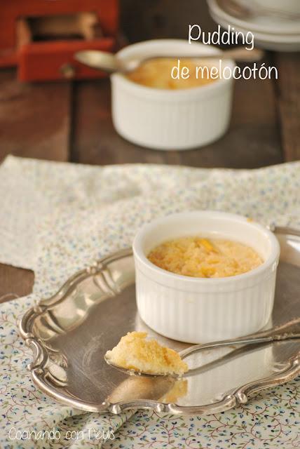 Pudding de melocotón al aroma de vainilla-cocina lecturas