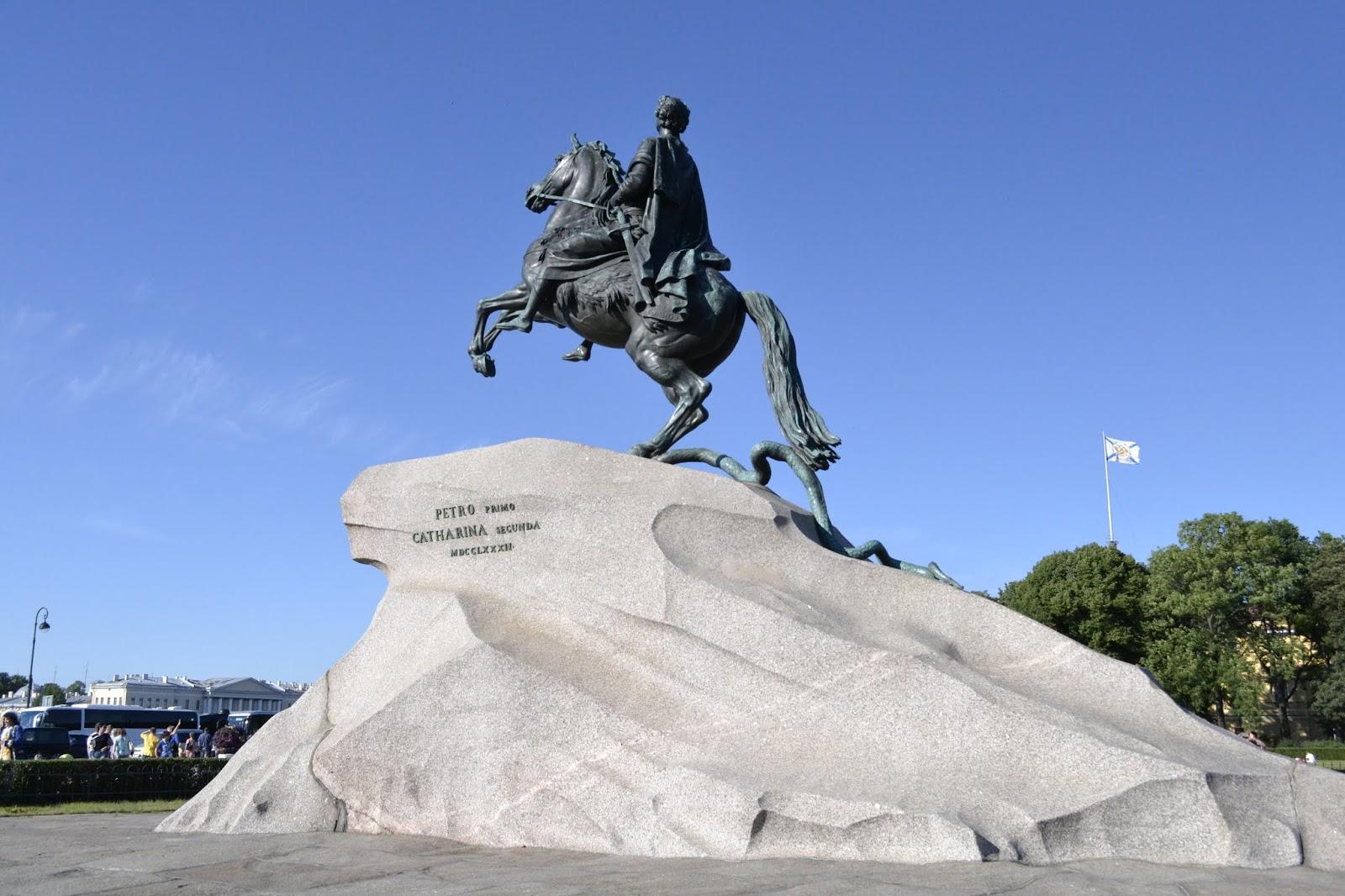 Jeździec Miedziany, Pomnik Piotra I Wielkiego,