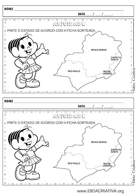 Atividade Região Sudeste Educação Infantil