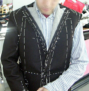 A tailor made suit in progress