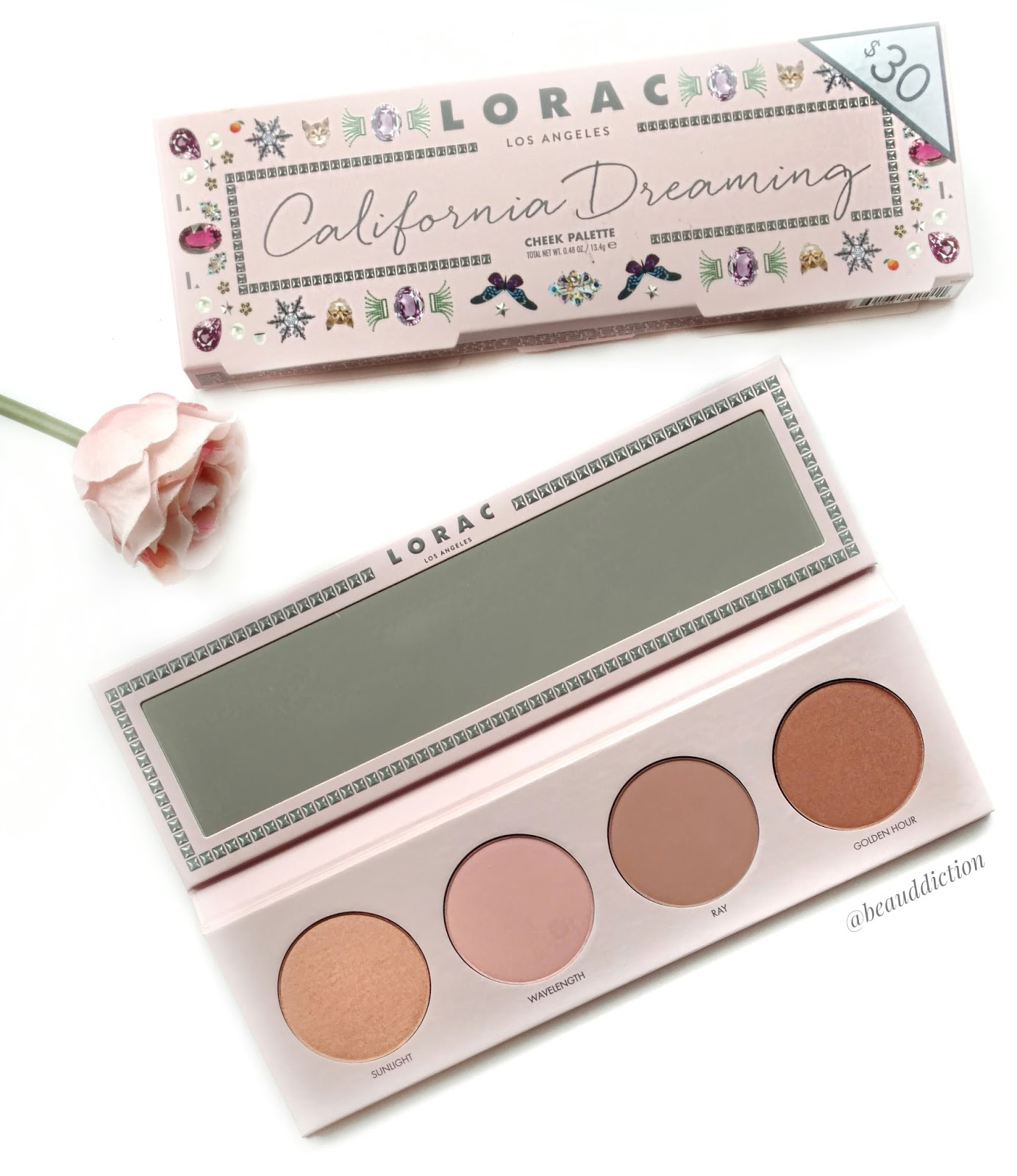 lorac california dreaming cheek palette review