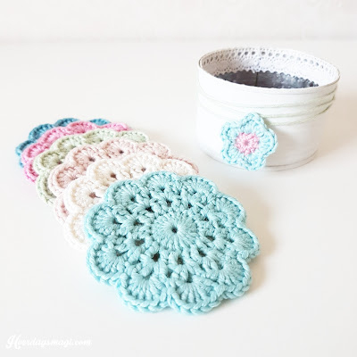 How to crochet vintage coasters, step by step