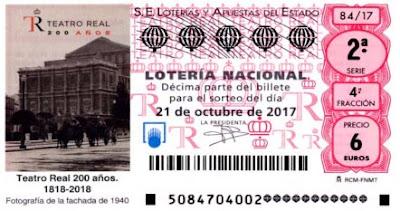 loteria teatro real 1940