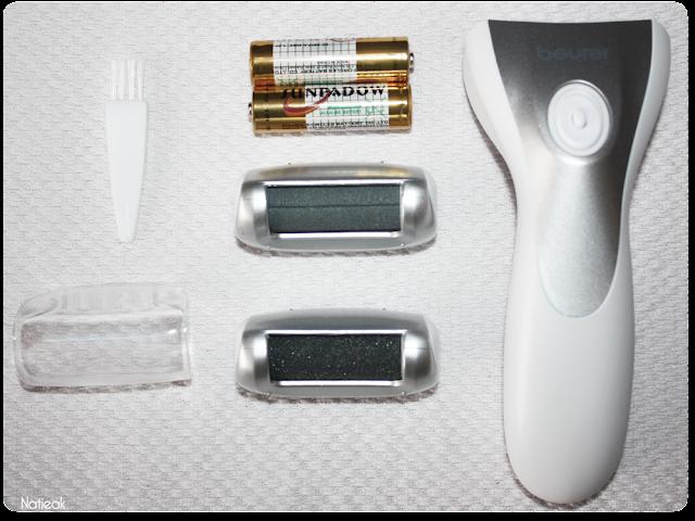 Description des accessoires de la ponceuse électrique pour pieds de  Beurer