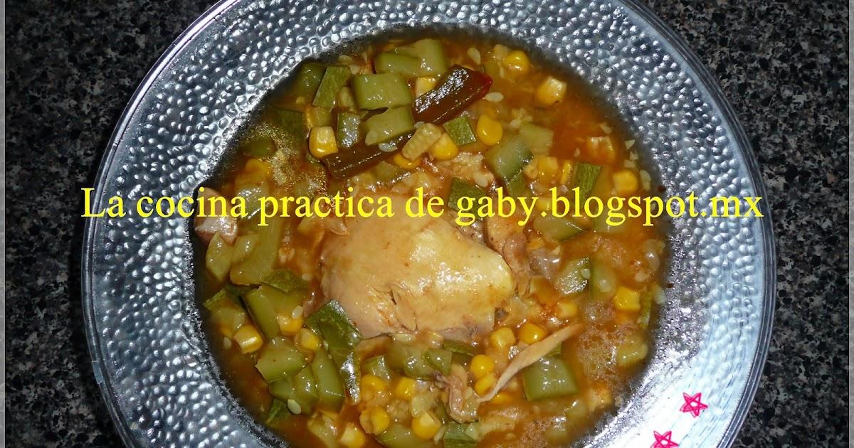 La cocina practica de gaby guisado de pollo calabaza for Cocina practica
