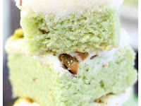 Pistachio Sugar Cookie Bars with Cream Cheese Frosting