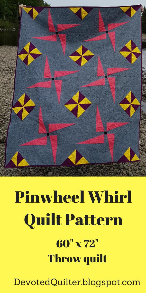Pinwheel Whirl quilt pattern | DevotedQuilter.blogspot.com