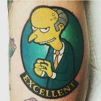 tatuaje excelente mr burns
