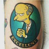 tatuaje excelente mr burns