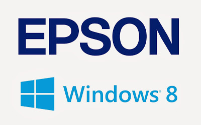 Windows 8 and Epson logos
